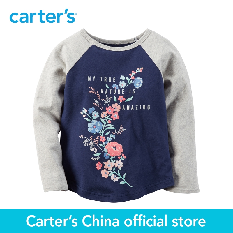 Carter s 1pcs baby children kids Floral Raglan Tee 253G546 sold by Carter s China official
