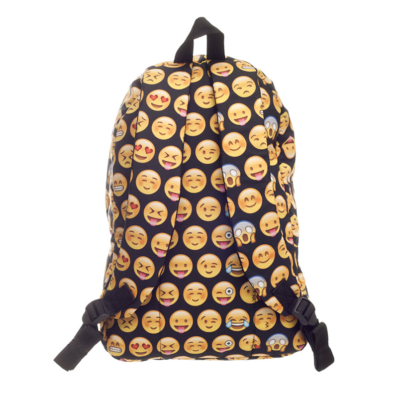 09b27b49501 CHELLA Σακίδιο σχολικής εκτύπωσης Smiley Οξφόρδης μόδας Emoji ...