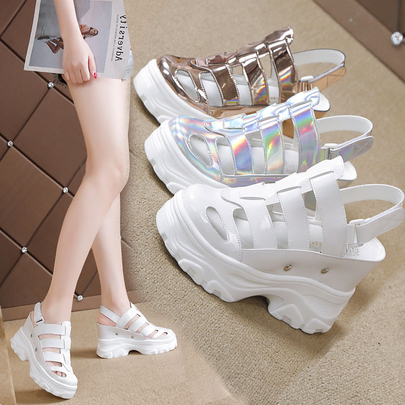 2019 New Women Sandals Print Gladiator Summer Shoes Wedges Open Toe Platform Sandals 5CM High-Heeled Shoes Woman Beach Sneakers