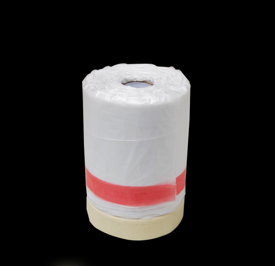 Image 3 - Spray Paint Protection Film Pre Taped Plastic Drop Cloth Masking Film For Plasti Dip Masking MO 106W 0.55x25m/ Roll-in Car Stickers from Automobiles & Motorcycles