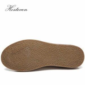 Image 4 - Hosteven אם אוקספורד עור אמיתי נעלי נשים בנות נשים נעלי מזדמנים נעלי מוקסינים דירות תחרה עד אופנה