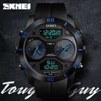 SKMEI Dual Display Digital Watches Multifunction Time Watherproof Watch Large Dial Outdoor Sports Wristwatches Relogio Masculino