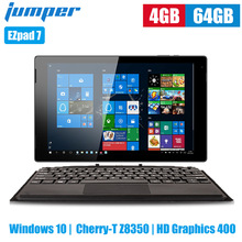 Jumper EZpad 7 2 in 1 Tablet PC 10.1 inch Windows 10 Cherry-T Z8350 Quad Core 1.44GHz 4GB 64GB eMMC 6500mAh Tablet with Keyboard