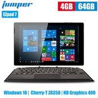 Jumper EZpad 7 2 в 1 планшетный ПК 10,1 дюймов Windows 10 Cherry T Z8350 четырехъядерный 1,44 ГГц 4 Гб 64 Гб eMMC 6500 мАч планшет с клавиатурой