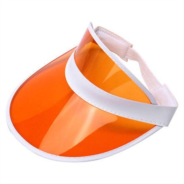ab95bdce Empty Top Sun Hat Summer Outdoor Transparent Plastic UV Protection Retro  Unisex Tennis Golf Hat Solid Men Women Caps Big Wide-in Sun Hats from  Apparel ...