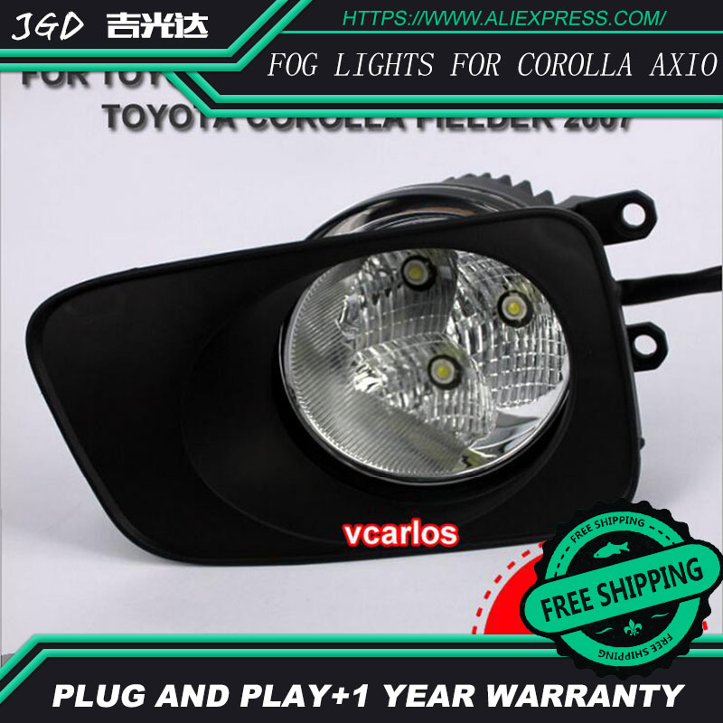 2PCS/Pair LED Fog Light For Toyota Corolla Axio 2007 High Power LED Fog Lamp Auto DRL Lighting Led Headlamp 2pcs pair led fog light for toyota corolla axio 2007 high power led fog lamp auto drl lighting led headlamp