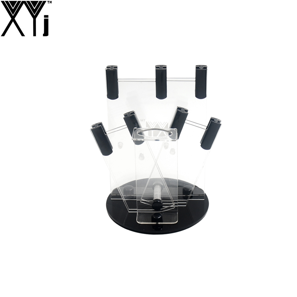 Acrylic Transparrent XYJ Brand Knife Holder Available For 4 Pieces Ceramic Kitchen Knives + One Peeler Brand Quality Knife Stand