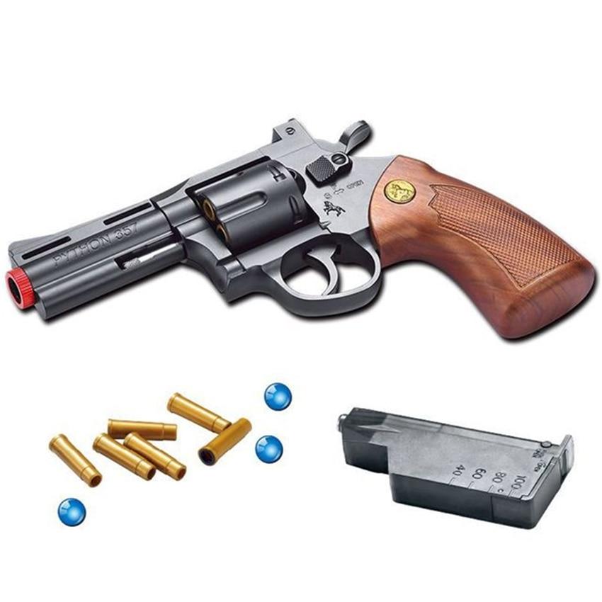 Eva2king offre spéciale Doux Cristal Bullet Jouets Pistolet Pistolets Revolver Pour Garçons Enfants Jouer En Plein Air Jeu Revolvers jouet pistolet