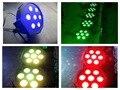10 шт./лот, ADJ питания IEC IN/OUT LED par 7x9 W RGB 3in1 трехместные Плоский Par38 Slim Может Свет мини DJ Освещение Сцены Дискотека Бар