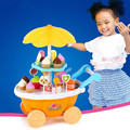 Super Cute Candy Ice Cream Car Flash Light Food Cake Cart Toys Kits Cartoon Food Toy Sets for Boys and Girls Pink/ Yellow Choose