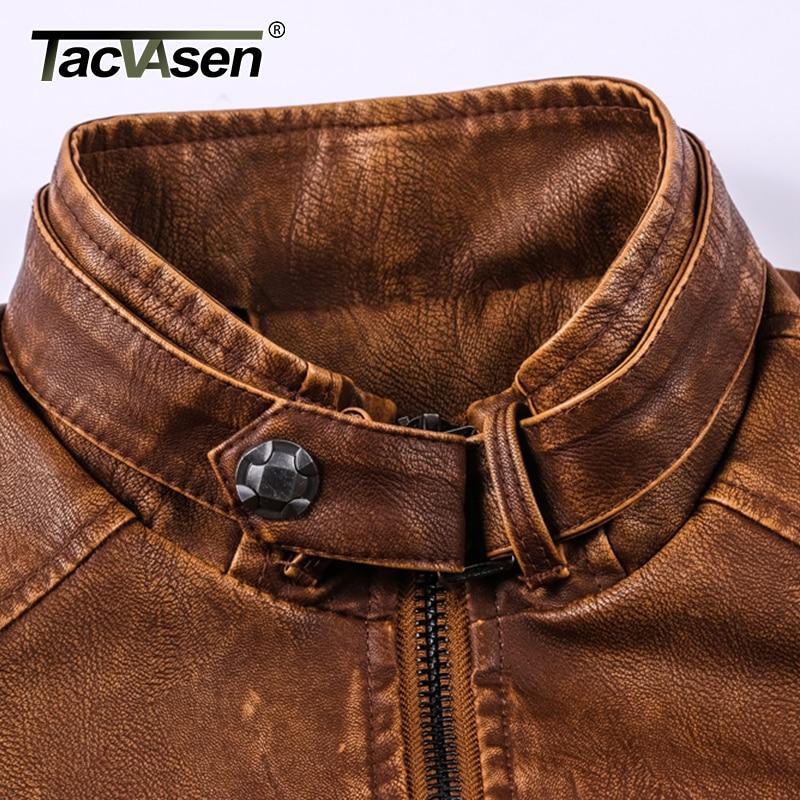 5acc03476 US $48.98 43% OFF TACVASEN Men Tactical PU Leather Jacket Winter Military  Bomber Jacket Autumn Casual Jacket Coat Motorcycle Windbreaker-in Jackets  ...