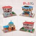 Cubicfun 3D модель бумаги ПОДЕЛКИ игрушки головоломки подарок мини мире отличная архитектура Турции народном стиле старый дом здание магазина дом
