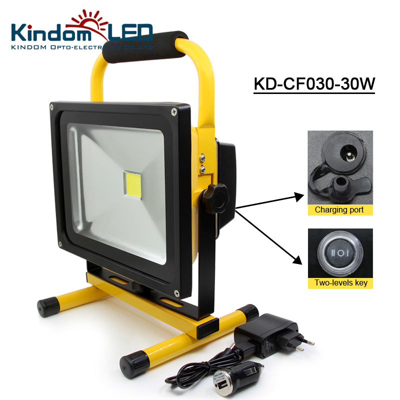 30W rechargeable led floodlight Portable lantern Led portable Work Light Adapter+Car Charger IP65 Waterproof lamp camping