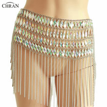 Chran Muziek Festival Lange Kwasten Dance Sequin Rok Sexy Bikini Burning Man Outfit Body Chain(China)