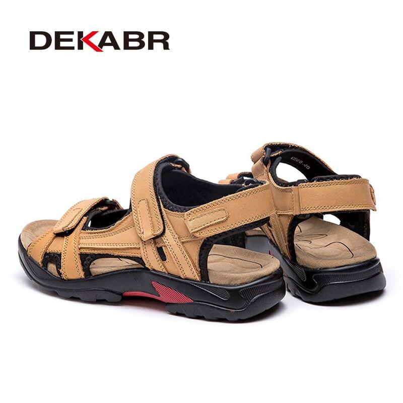 Image 3 - DEKABR Top Quality Sandal Men Sandals Summer Genuine Leather Sandals Men Outdoor Shoes Men Leather Shoes Big Plus size 46 47 48Mens Sandals   -