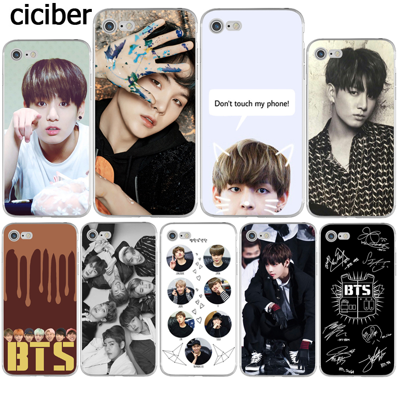 Phone Cases Bts Bangtan Boys Cute Cartoon For Iphone X 10 5 5s Se 6 6s 7 8 Plus High Quality Clear Soft Tpu Silicone Coque Cover Boys' Shoes