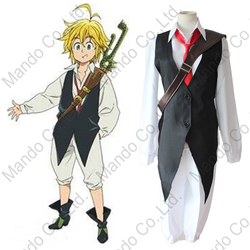 Anime The Seven Deadly Sins Dragon's Sin of Wrath Meliodas Cosplay Costume Halloween outfit Nanatsu no Taizai Suit