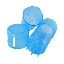 10pcs/lot wholesale Plastic Grinder Medical Grade Plastic Smell Tobacco Herb case 3 layers Grinder crusher as smoking accessary