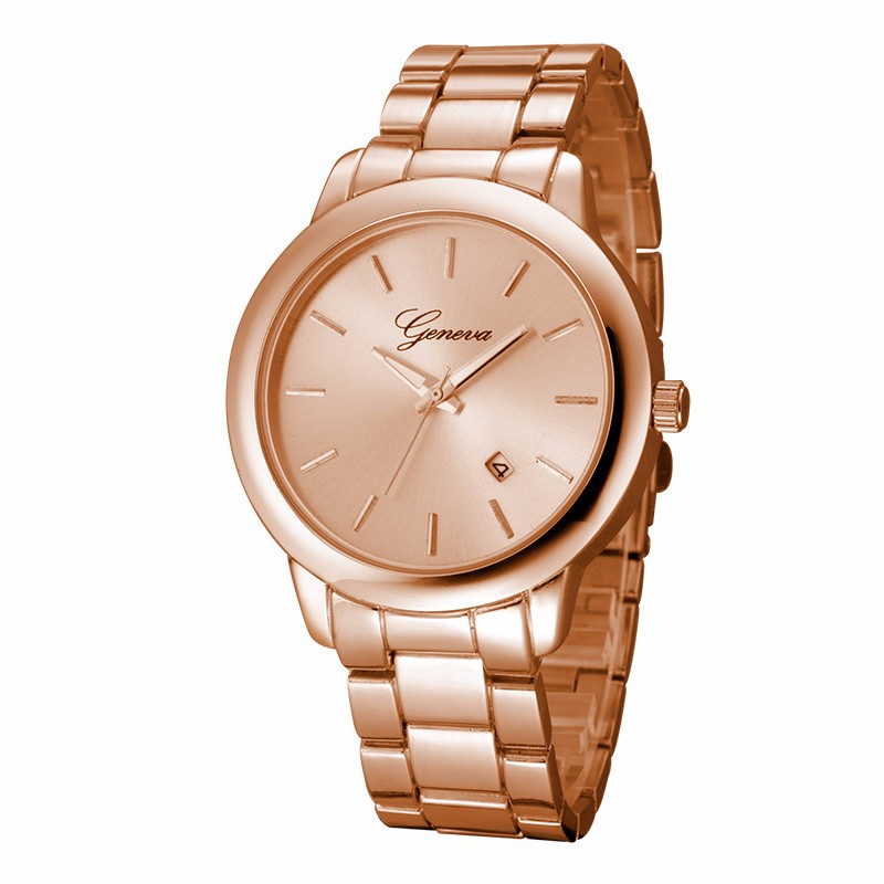 Luxury Golden Watches Women Fashion Geneva Crystal Stainless Steel Quartz-Watch Analog Wrist Watch Relogio Feminino Clock Hours hot sale soxy fashion elegant women watches analog lady s bracelet quartz watch luxury gold wrist watches hours relogio feminino