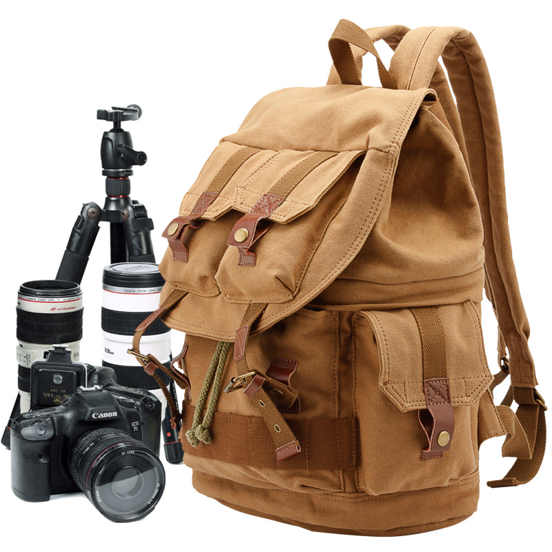 High Quality Camera Bag Digital Case Waterproof Canvas Backpack with Rain Cover Digital SLR Camera Backpack Travel Camera Bag 120mmx36mm warm white pure white cob led strip lamp lights bulb 10w 1000lm super bright 12v 24v for diy high quality