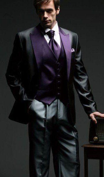 Custom MADE TO MEASURE TAILORED BESPOKE men suit MIDDLE GREY SUIT DARK GREY LAEPL POCKET EDGE