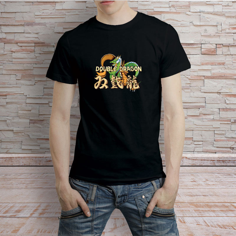 Double Dragon Gaiden retro Game Street Fighting T-Shirt Tee T Shirt Men Casual Cotton Short Sleeve Summer Short Sleeves Cotton