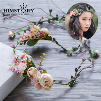 Bohemia Angel Style Flower Vine Wedding Seaside Holiday Party Hair Wreath Accessory Floral Girls Bridal