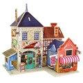 Wooden Chalets British Musical Instruments Shop Building 3D Puzzle Toys Children's Educational Jigsaw Wooden Puzzle