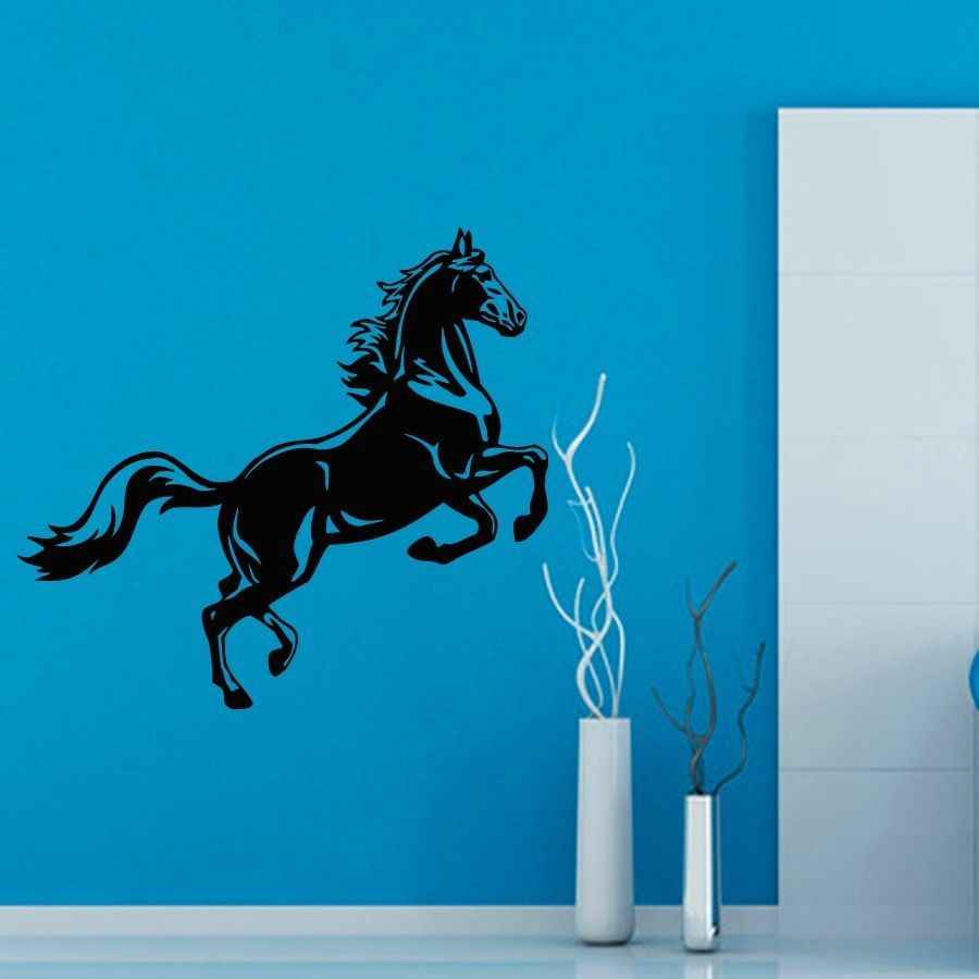 DCTAL الحصان ملصقا فرس صائق Muurstickers الملصقات الفينيل صور مطبوعة للحوائط كابالو Pegatina كوادرو Parede ديكور جدارية الحصان ملصقا