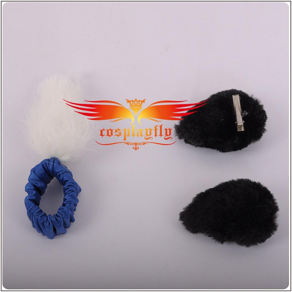 LoveLive! SunShine!! Aqours Matsuura kanan cartes d'activité scène COS filles bleu + noir Cosplay Costume adulte femmes cheveux anneau robe - 6