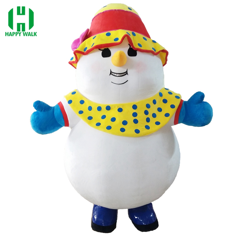 New Style 2.6M Inflatable Snowman Costume Inflatable Christmas Snowman For Advertising Customize Suitable For 1.7m To 1.9m Adult