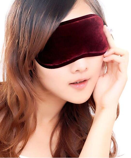 Fashionable Soft tourmaline font b Eye b font Mask Shade Nap Cover Blindfold Sleeping Travel for