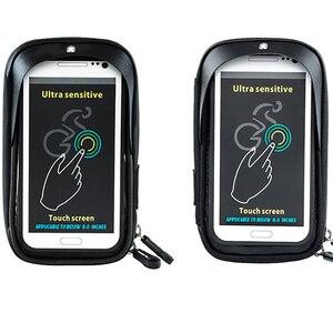 Image 5 - 6 cal uchwyt na telefon komórkowy wodoodporna rower stojak kierownica motocykla do montażu na torba dla iphone Samsung HUAWEI xiaomi