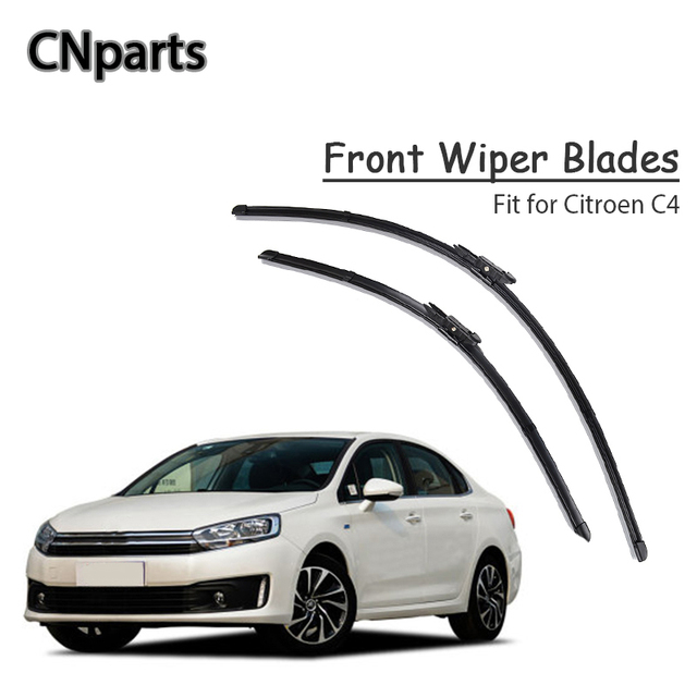 CNparts Car Windshield Soft Rubber Front Wiper Blades Arm Kit For Citroen C4 MK1 MK2 2017 2016-2004  Windscreen Brush Tool