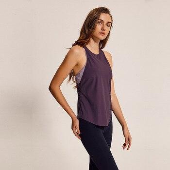 Yoga Shirts Sports Athletic Loose Quick Dry Vest Sleeveless Shirt Women Running Gym Tops Woman Tight Stretchy Fitness Yoga Shirt 1