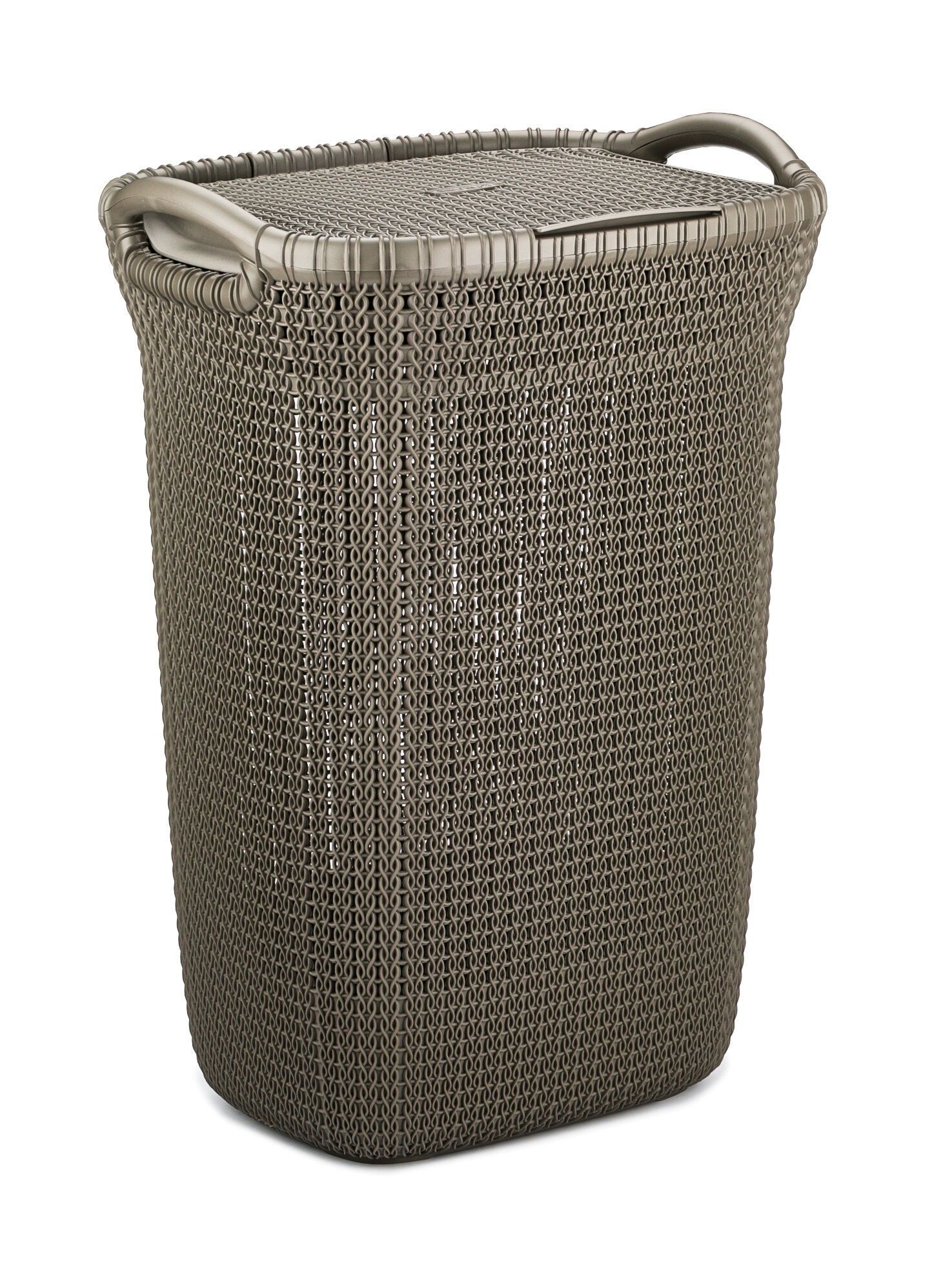 Laundry basket CURVER KNIT 57 L dark brown brown l