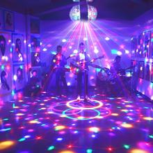 Double Head Rotating Small Magic Ball Stage Light Disco LED 3W With Voice Control