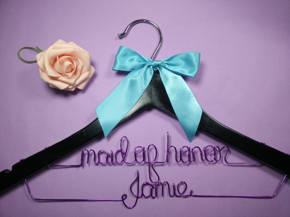 Aliexpress.com : Buy Personalized Wedding Hanger, bridesmaid gifts ...