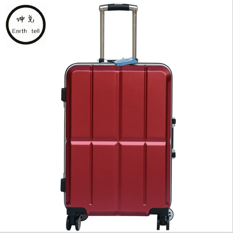 цена на Aluminum Frame Luggage Hardside Rolling Trolley Bag Luggage travel Suitcase 20 Carry on Luggage 20 24 Inch Checked Wheels Bags