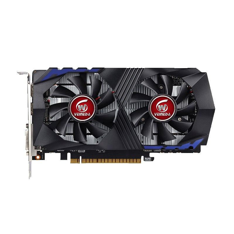 Carte vidéo VEINEDA pour carte graphique d'ordinateur PCI-E GTX1050Ti GPU 4G DDR5 pour jeu nVIDIA Geforce - 2
