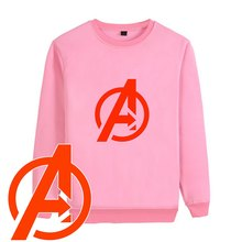 Marvel Avengers Logo Summer Cool Pattern Thick O-NECK Cotton Sweatshirts Teen Leisure Unisex Pullover A19525(China)