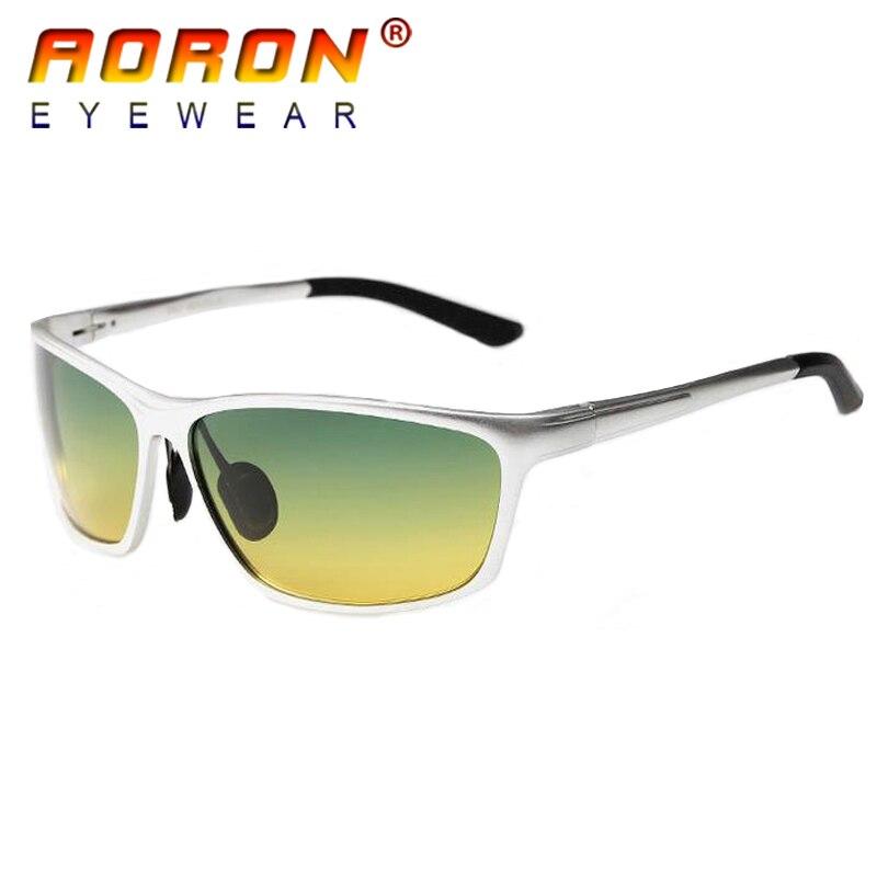 c73ae39887 Gafas de sol polarizadas para hombre con diseño de marca AORON 2018 gafas  de visión diurna y nocturna gafas UV 400 oculos gafas de sol 2179 en Gafas  de sol ...