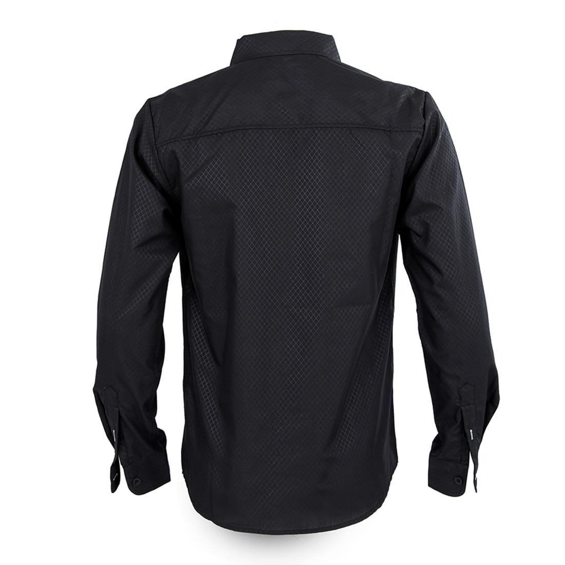BFYL Hot 2017 men premium brand grid Big yards casual business long sleeve shirts Men fashion slim leisure long-sleeved shirts