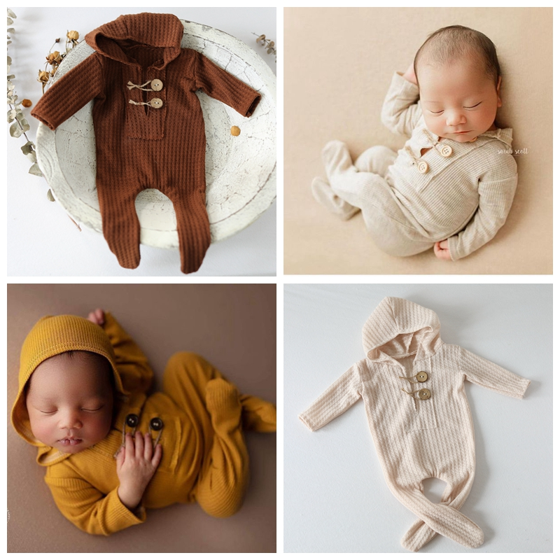 0-15 Newborn Photography Props Clothes Hood Footed Rompers Baby Boy Costume Knit Outfit Photo Props Pants Accessories for Etsy
