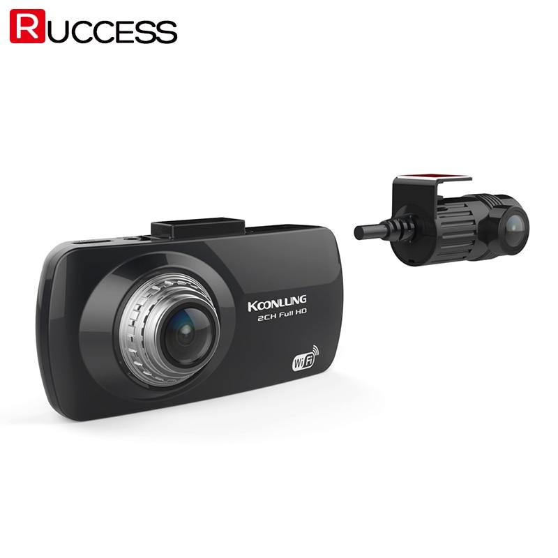RUCCESS A1 Dual Camera Car DVR GPS Wifi DVRS 2CH Full HD 1080P Novatek 96663 Video