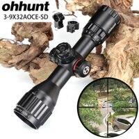 Ohhunt охотничья оптика 3-9x32 АО компактный 1/2 половина Mil точка сетка Riflescopes Turrets замок с солнцезащитный козырек тактический прицел