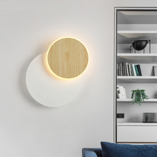 BOTIMI Designer LED Wall Lamp For Living Room Decoration Wooden Wall light Bedside Lamp White Wall Sconce Indoor Luminaire недорого