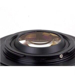 Image 2 - Pixco для штатива 4/3, редуктор фокусного расстояния, встроенная диафрагма для объектива Canon EF, крепление к Micro 4/3 + крышка объектива, U образный зажим + ремни для камеры