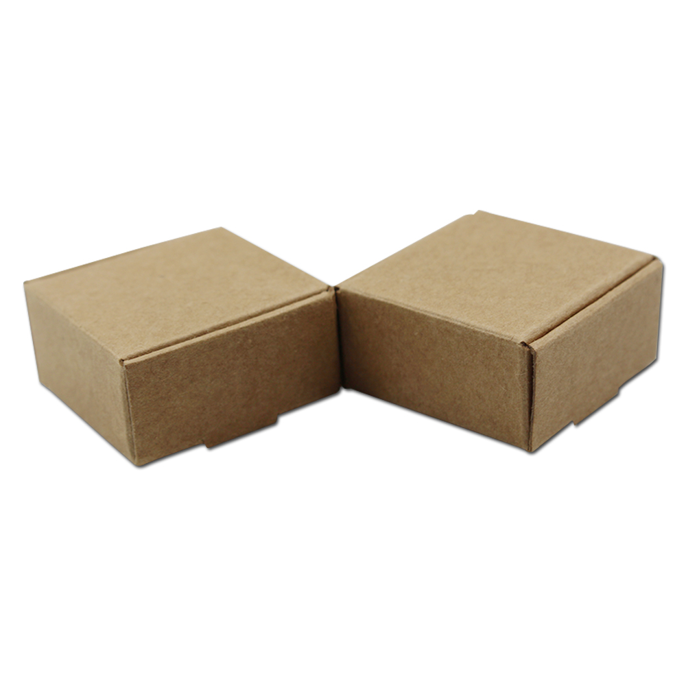 200pieces/lot Handmade Soap Business Card Jewelry Packaging Kraft Paper Box Birthday Party Favor Small Gifts Packing Storage Box-in Gift Bags & Wrapping Supplies from Home & Garden    3