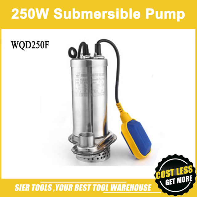 WQD250F Stainless Steel Submersible Pump/basement Water Pumping  Machine/250W Sewage Pump
